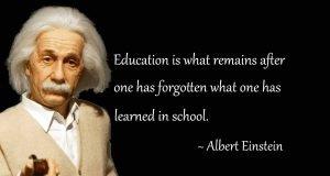 Einsteinstein quote on education