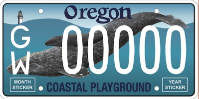 Oregon Coastal Playground license plate