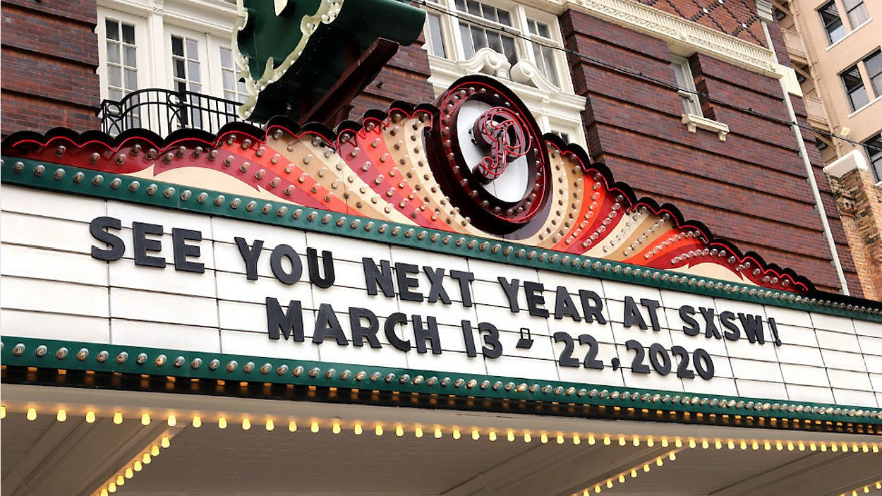 SXSW see you next year on Paramount theater sign